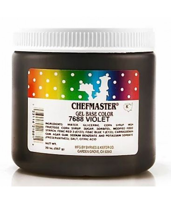 Chefmaster Violet Gel Color 20 oz