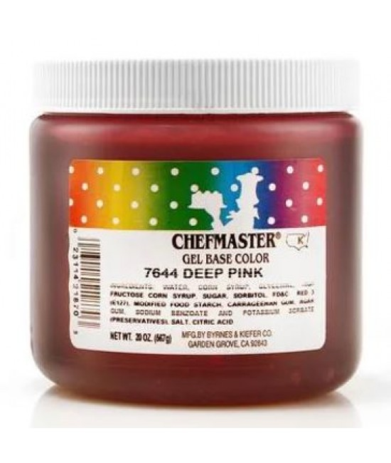Chefmaster Deep Pink Gel Color 20 oz