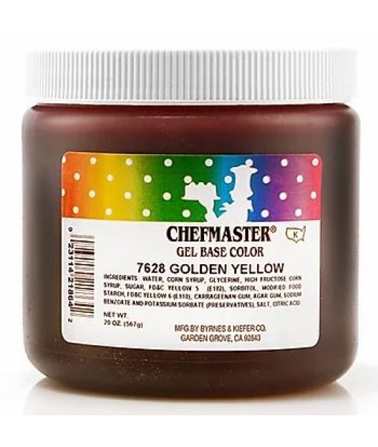 Chefmaster Golden Yellow Gel Color 20 oz