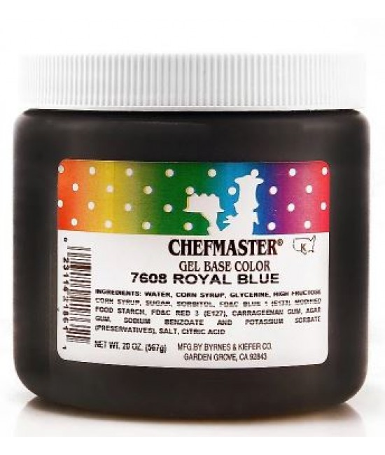 Chefmaster Royal Blue Gel Color 20 oz
