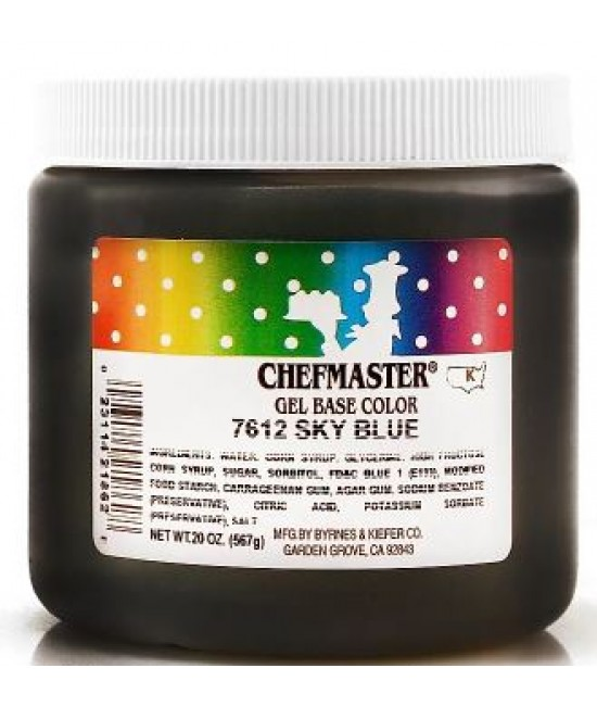 Chefmaster Sky Blue Gel Color 20 oz