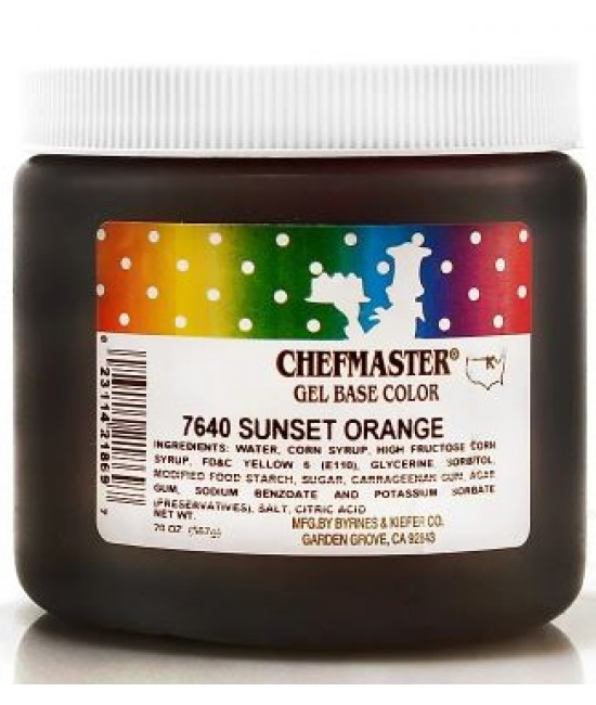 Chefmaster Sunset Orange Gel Color 20 oz
