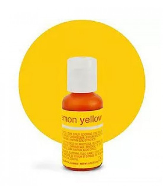 Chefmaster Lemon Yellow Liqua Gel Color