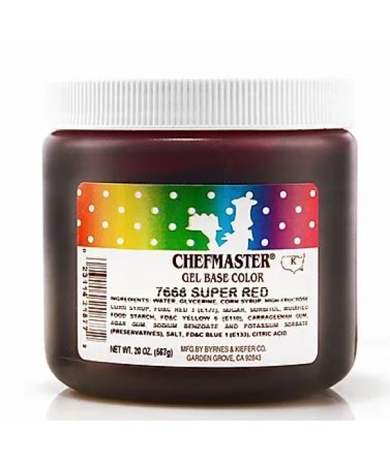 Chefmaster Super Red Gel Color 20 oz