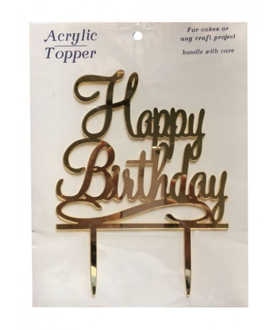 Happy Birthday Cake Topper 1