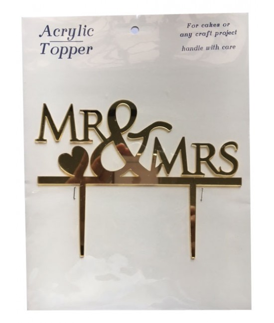 Mr & Mrs Acrylic Cake Topper 4