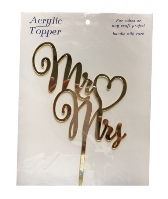 Mr & Mrs Acrylic Cake Topper 2