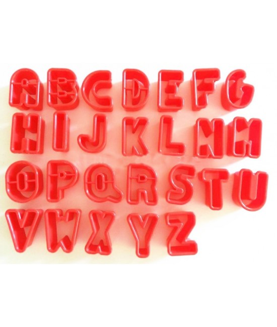 Alphabet Rounded Cutter fondant