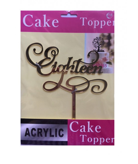 Eighteen Acrylic Cake Topper