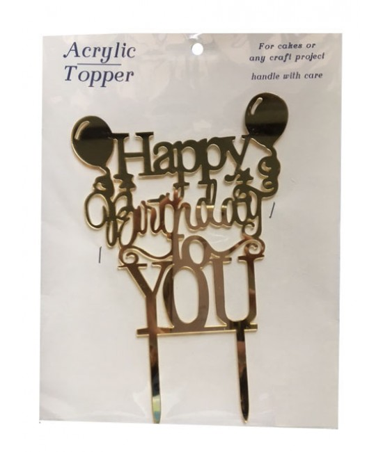 Happy Birthday Cake Topper 3