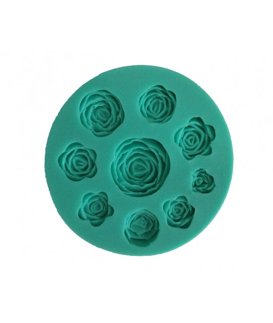 9 Rose Silicone Mould