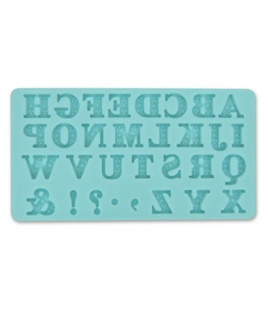 Rose & Bead Alphabet Design Silicone Mould