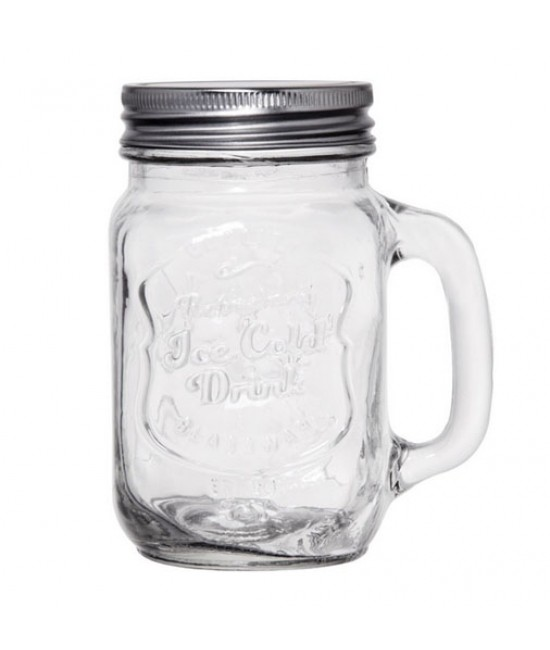 Classic Glass Mug  with Lid
