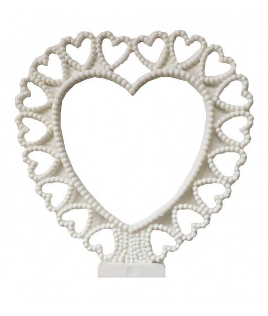 Seed Pearl Heart Cake Topper