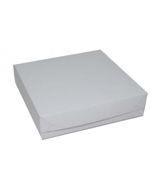 9x9x2 White /White Lock & Tab Box Set