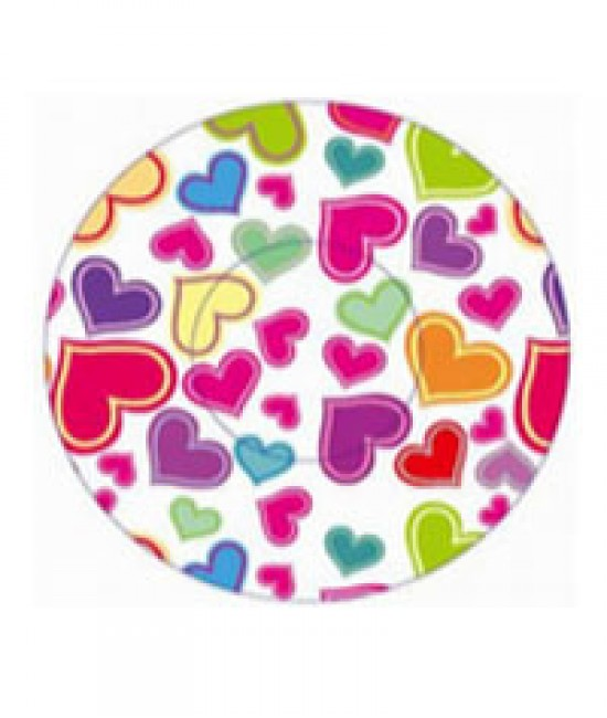 Pastel Hearts Print Baking Cup