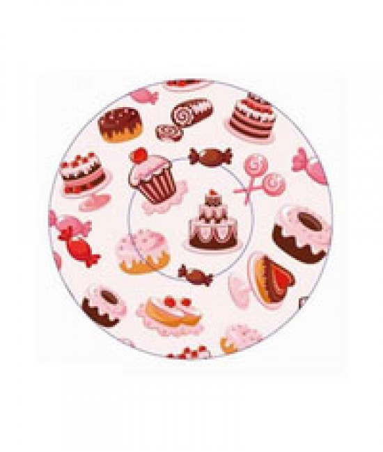 Mixed Cakes, Candies Print