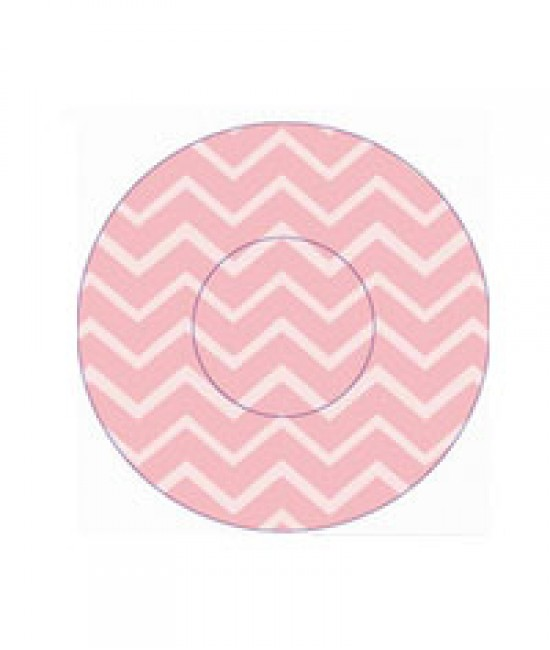 Geometric Pink Print Baking Cup