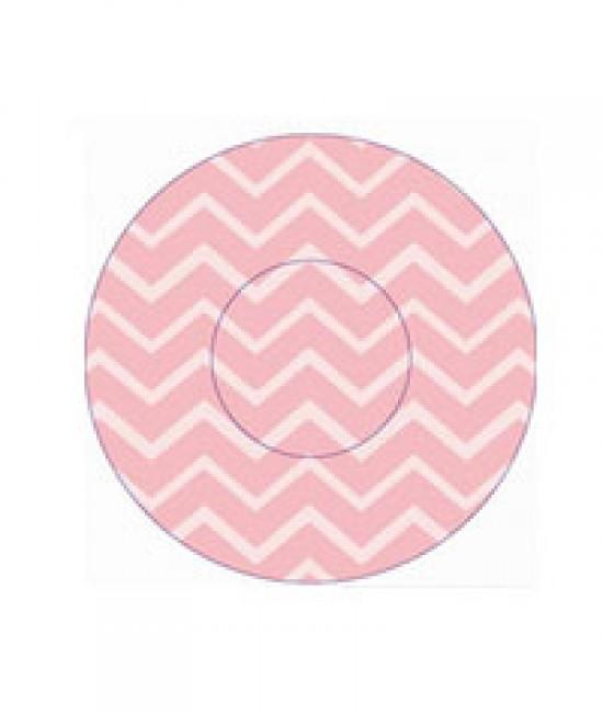 Geometric Pink Print Baking Cup