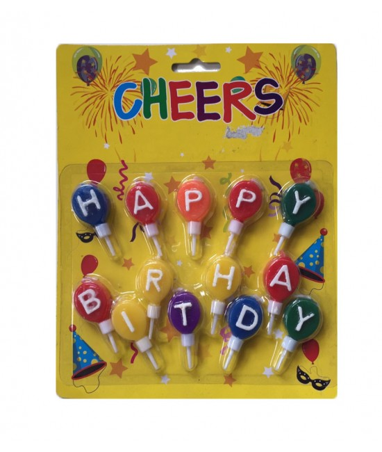 Balloon Shape Happy Birthday Candles