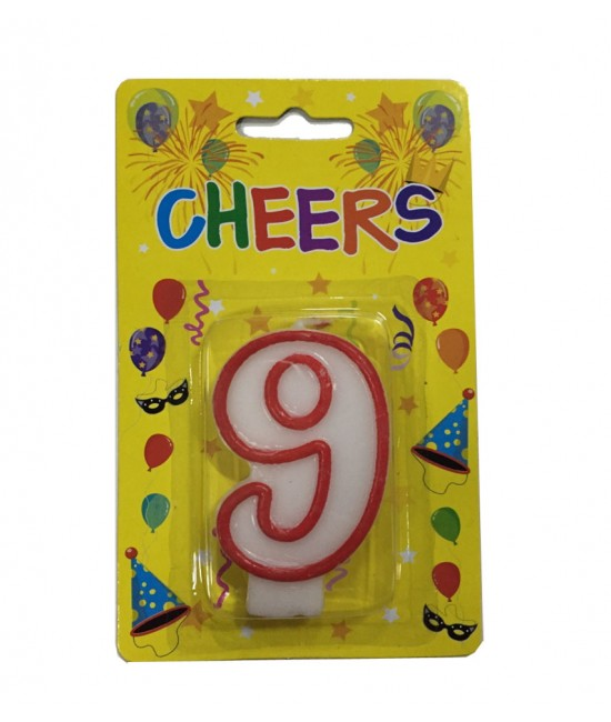Number 9 Birthday Candle